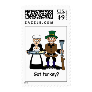 Funny Thanksgiving stamps