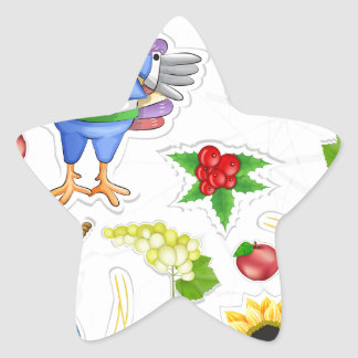 funny thanksgiving star sticker