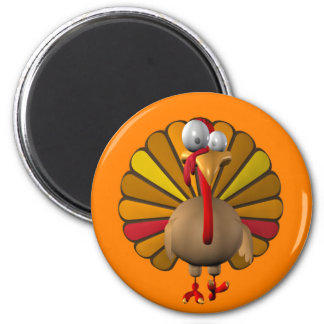 Funny Thanksgiving Turkey 2 Inch Round Magnet