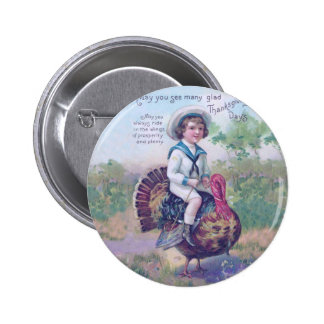 Funny Thanksgiving Turkey Pinback Buttons