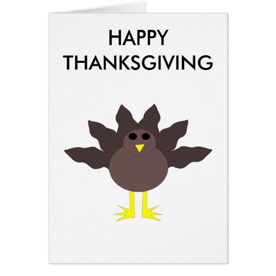 Funny Thanksgiving Turkey Customizable Card