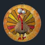 "Funny Thanksgiving Turkey Dartboard<br><div class=""desc"">Funny Thanksgiving Turkey Image used on this item is licensed by www.butterflywebgraphics.com</div>"