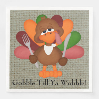 Funny Thanksgiving turkey dinner paper napkins