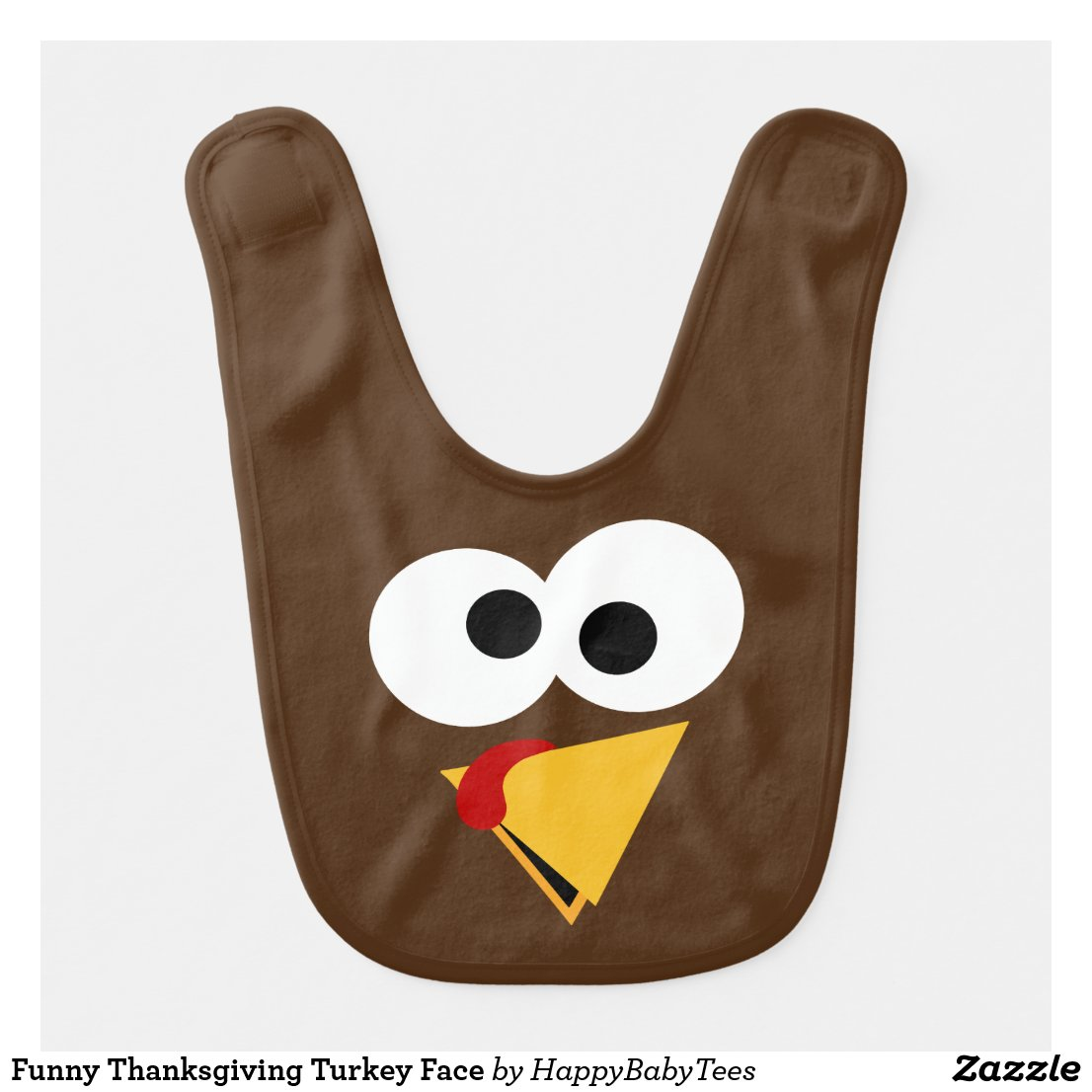 Funny Thanksgiving Turkey Face Baby Bib