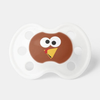 Funny Thanksgiving Turkey Face BooginHead Pacifier