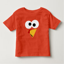 Funny Thanksgiving Turkey Face Toddler T-shirt