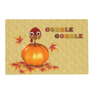 Funny Thanksgiving Turkey in Pumpkin - Placemat