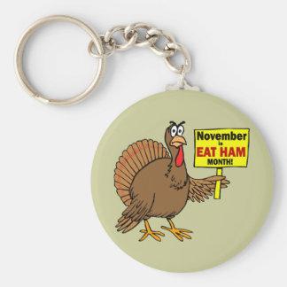 Funny Thanksgiving turkey Keychain