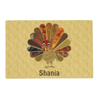 Funny Thanksgiving Turkey - Laminated Placemat