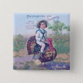 Funny Thanksgiving Turkey Pinback Button