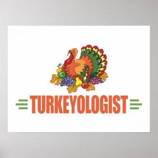 Funny Thanksgiving Turkey Poster