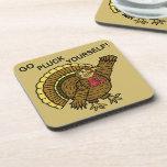 Funny Thanksgiving Turkey Pun Coasters