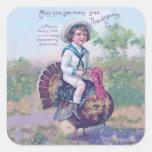 Funny Thanksgiving Turkey Square Sticker