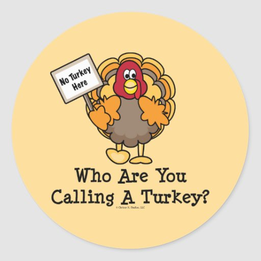 Funny Thanksgiving Turkey Sticker