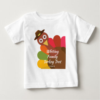 Funny Thanksgiving Turkey Trot Matching Family Baby T-Shirt