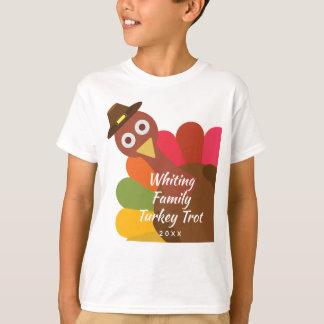 Funny Thanksgiving Turkey Trot Matching Family T-Shirt