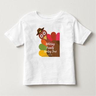 Funny Thanksgiving Turkey Trot Matching Family Toddler T-shirt