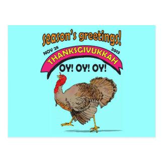 funny Thanksgivukkah Postcards