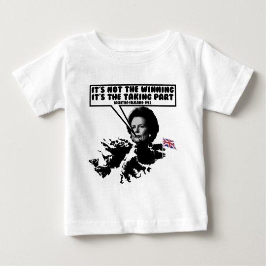 Funny Thatcher Falklands Baby T-Shirt
