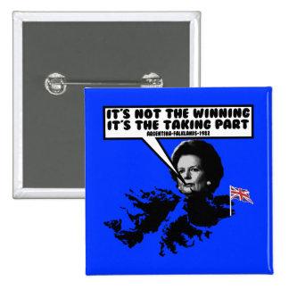 Funny Thatcher Falklands Pin