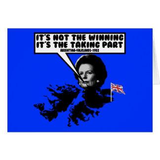 Funny Thatcher Falklands Card