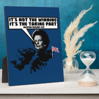 Funny Thatcher Falklands Plaque