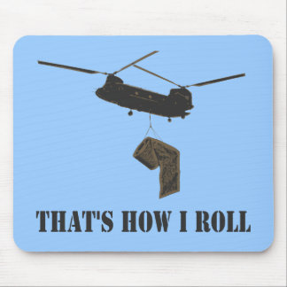 Funny that's how i roll mouse pad
