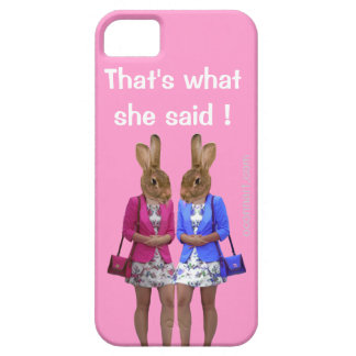 Funny that's what she said text iPhone 5 case