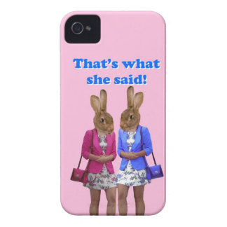 Funny that's what she said text Case-Mate iPhone 4 case