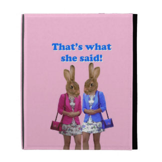 Funny that's what she said text iPad folio case