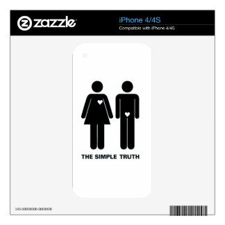 Funny The Simple Truth Decal For The iPhone 4S