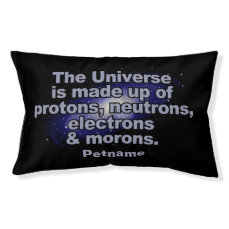 """Funny """"The Universe"""" custom name dog beds"""