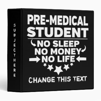 Funny Theater College Student No Life Or Money Binder