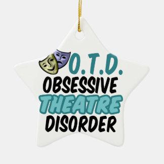 Funny Theatre Ceramic Ornament