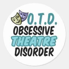 Funny Theatre Classic Round Sticker at Zazzle