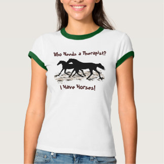 Funny Therapist Horse Humor T-Shirt