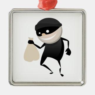 Funny Thief Metal Ornament