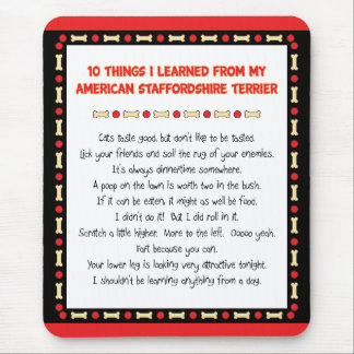 Funny Things I Learned From American Staffordshire Mouse Pad