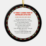 Funny Things I Learned From Australian Cattle Dog Christmas Tree Ornament