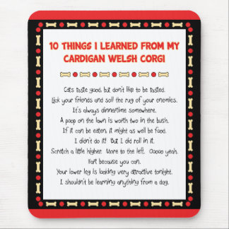 Funny Things I Learned From Cardigan Welsh Corgi Mouse Pad