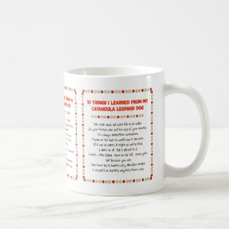 Funny Things I Learned From Catahoula Leopard Dog Coffee Mug
