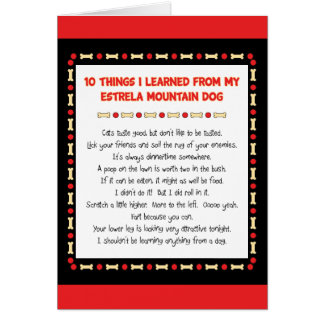 Funny Things I Learned From Estrela Mountain Dog Cards
