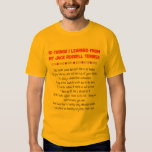 Funny Things I Learned From Jack Russell Terrier Tshirts