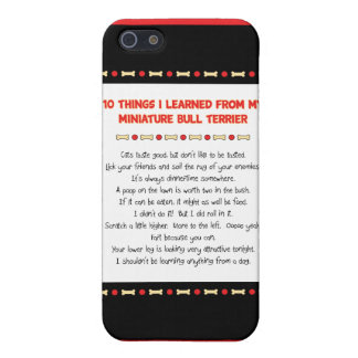 Funny Things I Learned From Miniature Bull Terrier iPhone 5 Cover