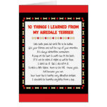 Funny Things I Learned From My Airedale Terrier Card