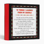Funny Things I Learned From My Basenji 3 Ring Binders