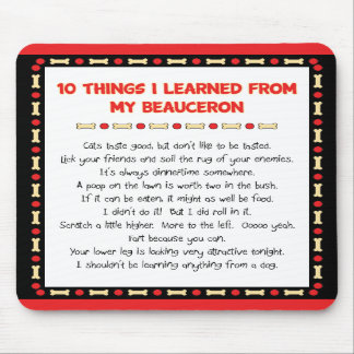 Funny Things I Learned From My Beauceron Mouse Pad