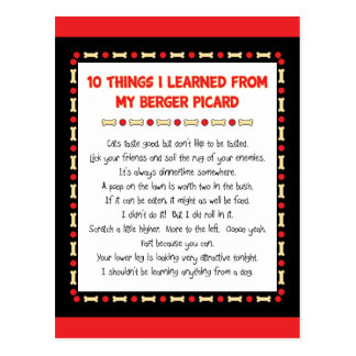 Funny Things I Learned From My Berger Picard Postcard