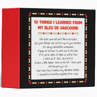 Funny Things I Learned From My Bleu de Gascogne Vinyl Binder