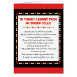 Funny Things I Learned From My Border Collie Card